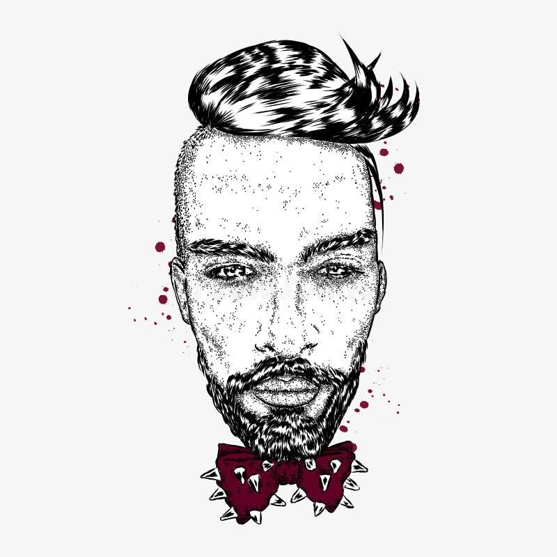 Όμορφος τύπος με ένα μοντέρνο hairstyle ελεύθερη απεικόνιση δικαιώματος