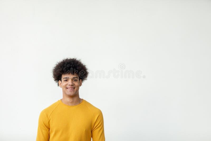 Όμορφος τύπος με το afro hairstyle στοκ εικόνα