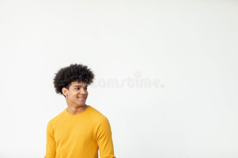 Όμορφος τύπος με το afro hairstyle στοκ εικόνες