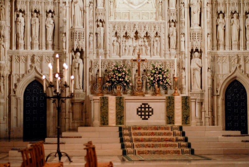 Όμορφος υψηλός αλλάζει του εθνικού καθεδρικού ναού της Ουάσιγκτον στην Ουάσιγκτον, συνεχές ρεύμα στοκ εικόνες με δικαίωμα ελεύθερης χρήσης