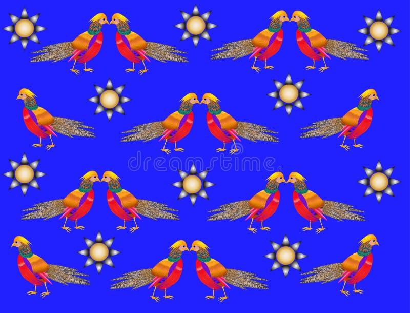 Όμορφος, φωτεινός, πουλί, υπόβαθρο διακοσμήσεων απεικόνιση αποθεμάτων