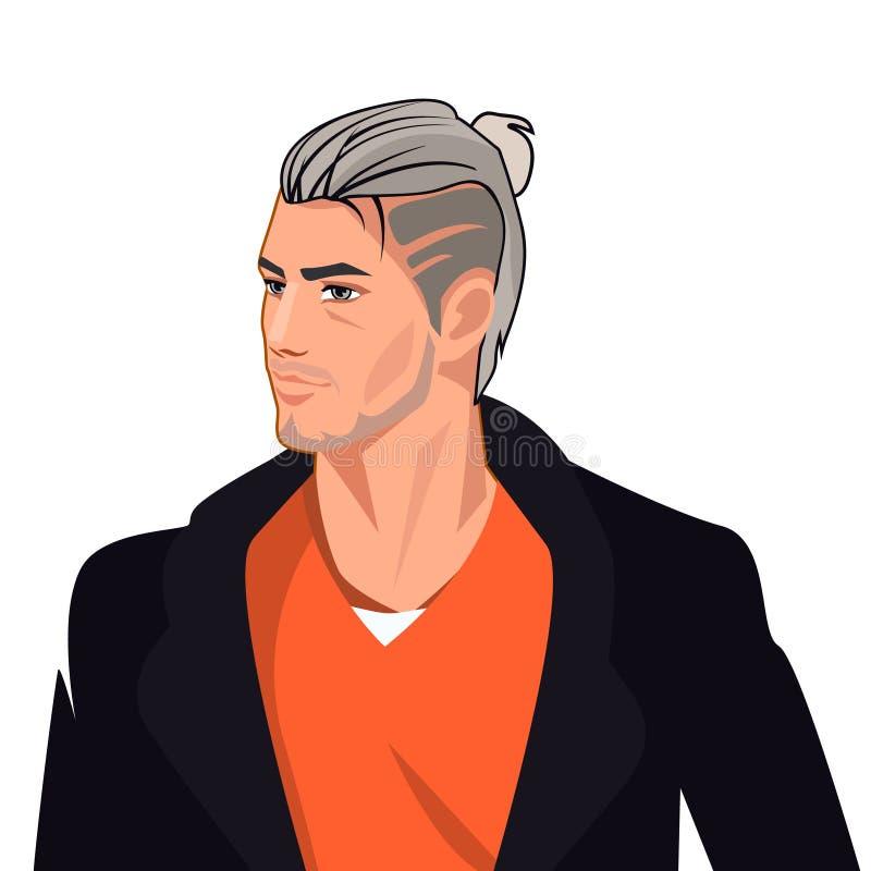 Όμορφος χαρακτήρας Comics ατόμων, διανυσματική απεικόνιση ελεύθερη απεικόνιση δικαιώματος