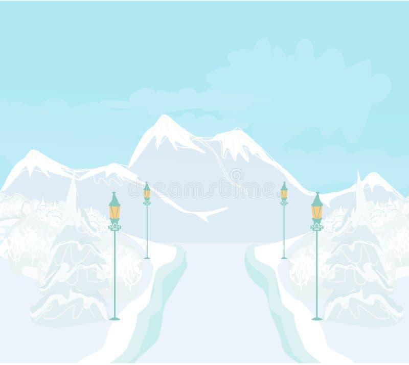 όμορφος χειμώνας τοπίων ελεύθερη απεικόνιση δικαιώματος