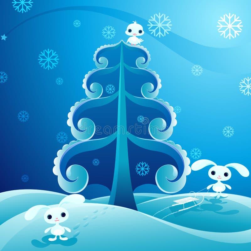 όμορφος χειμώνας ελεύθερη απεικόνιση δικαιώματος