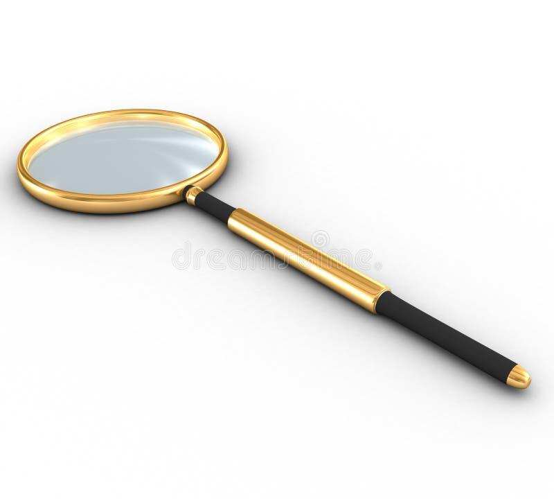 Όμορφος χρυσός που ενισχύει - γυαλί σε ένα άσπρο υπόβαθρο στοκ εικόνα