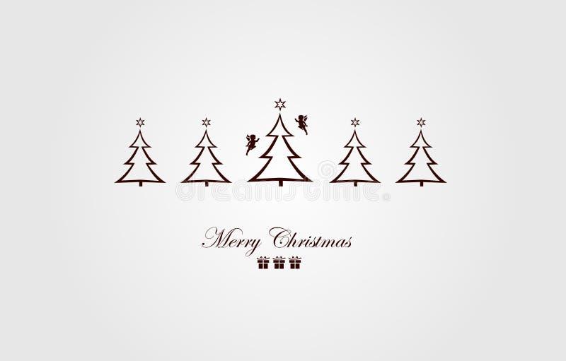 όμορφος eps Χριστουγέννων καρτών 8 τρύγος δέντρων αρχείων συμπεριλαμβανόμενος απεικόνιση όμορφο δέντρο απεικόνισης απεικόνιση αποθεμάτων