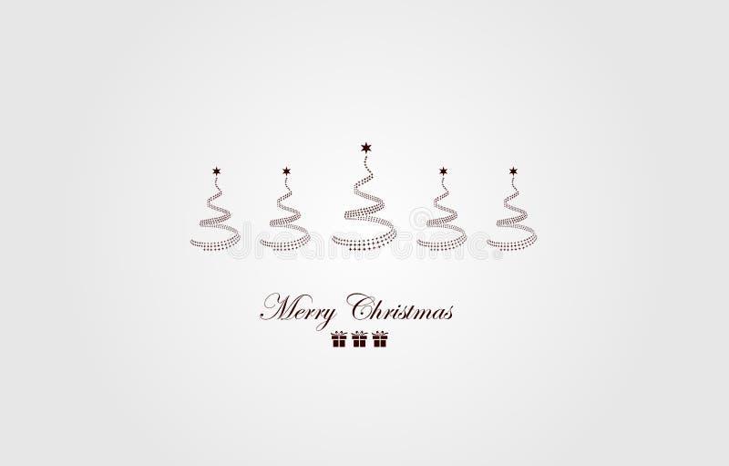 όμορφος eps Χριστουγέννων καρτών 8 τρύγος δέντρων αρχείων συμπεριλαμβανόμενος απεικόνιση όμορφο δέντρο απεικόνισης διανυσματική απεικόνιση