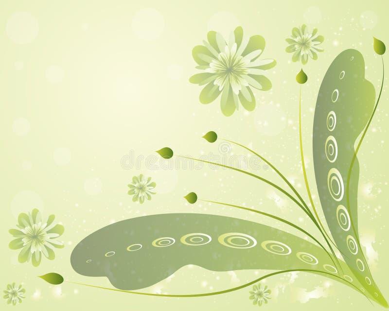 όμορφος floral ανασκόπησης στοκ εικόνα