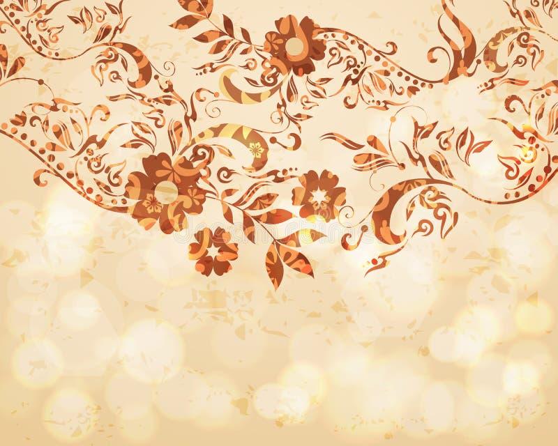 όμορφος floral ανασκόπησης διανυσματική απεικόνιση