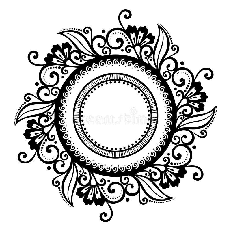 Όμορφος Floral κύκλος Deco (διάνυσμα) απεικόνιση αποθεμάτων