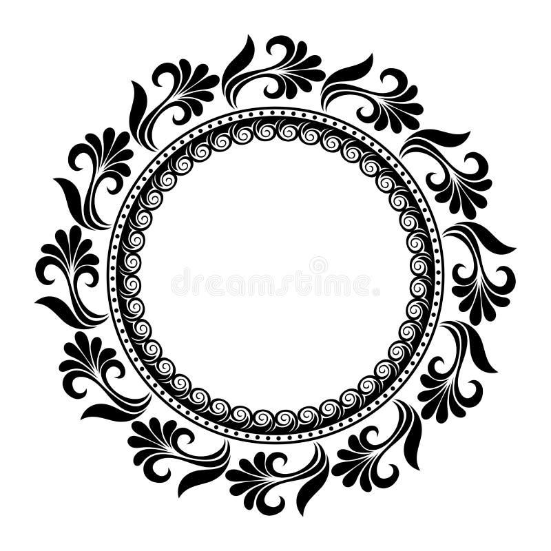 Όμορφος Floral κύκλος Deco (διάνυσμα) διανυσματική απεικόνιση