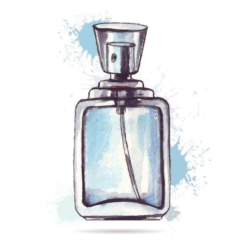 όμορφο άρωμα μπουκαλιών ελεύθερη απεικόνιση δικαιώματος