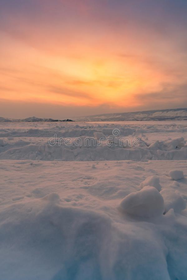 Όμορφο έδαφος τομέων ανατολής χιονισμένο στοκ φωτογραφία με δικαίωμα ελεύθερης χρήσης