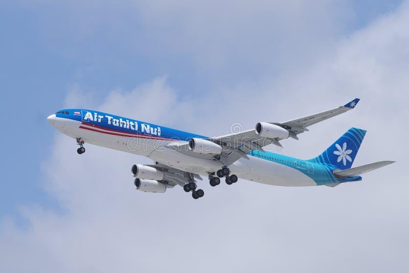 Όμορφο αεροπλάνο airbus της Ταϊτή Nui αέρα A340 στοκ φωτογραφίες με δικαίωμα ελεύθερης χρήσης