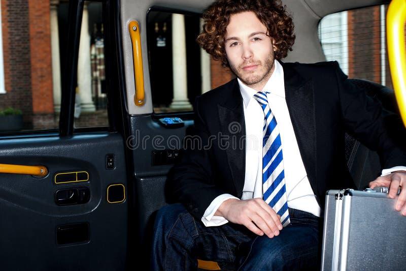 Όμορφο αμάξι επιχειρησιακών εταιρικό εσωτερικό ταξί στοκ φωτογραφίες