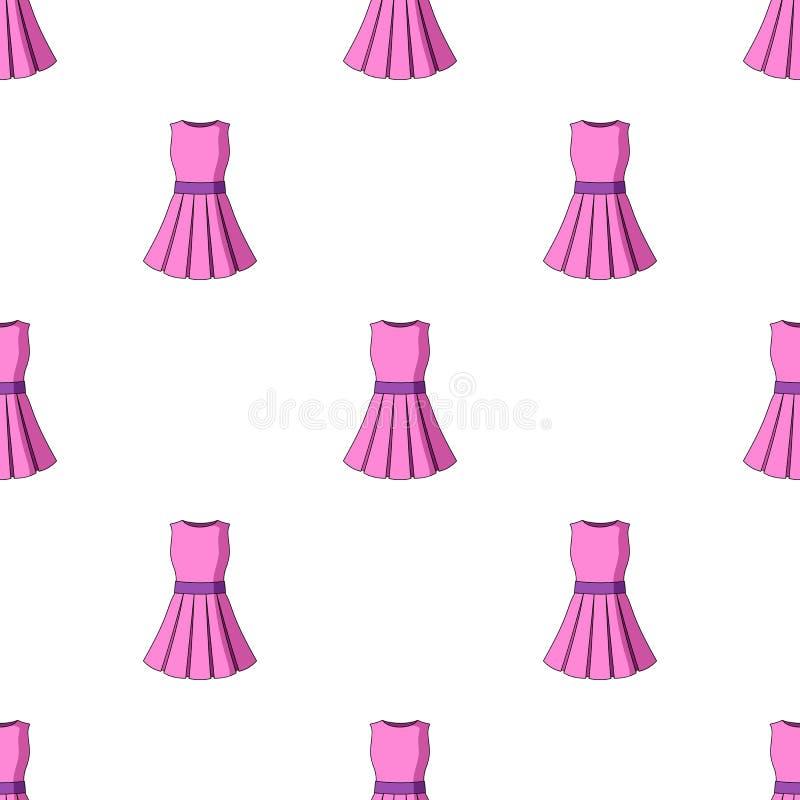Όμορφο ανοικτό ροζ θερινό φόρεμα χωρίς μανίκια Ιματισμός για ένα πεζοπορώ στην παραλία Γυναίκες που ντύνουν το ενιαίο εικονίδιο μ ελεύθερη απεικόνιση δικαιώματος