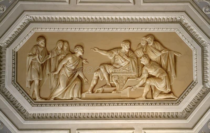 Ανώτατο όριο στο μουσείο Βατικάνου στοκ φωτογραφία