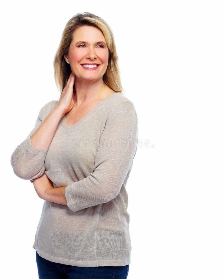 Όμορφο ανώτερο πορτρέτο γυναικών. στοκ φωτογραφία με δικαίωμα ελεύθερης χρήσης