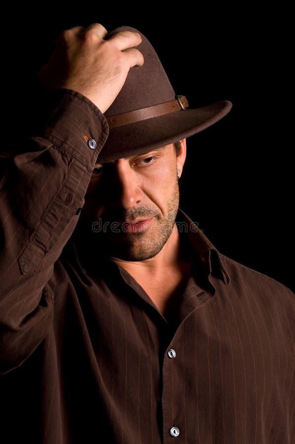 όμορφο αρσενικό καπέλων στοκ φωτογραφία με δικαίωμα ελεύθερης χρήσης