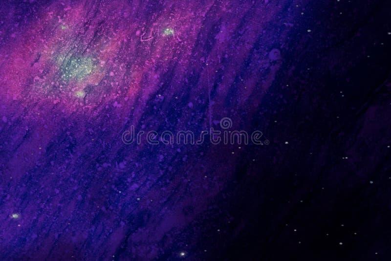 Όμορφο αφηρημένο ζωηρόχρωμο γραπτό γρανίτης σύστασης και πάτωμα κεραμιδιών στο σκοτάδι και την αυγή Polaris και τα αστέρια στο θό στοκ εικόνες με δικαίωμα ελεύθερης χρήσης
