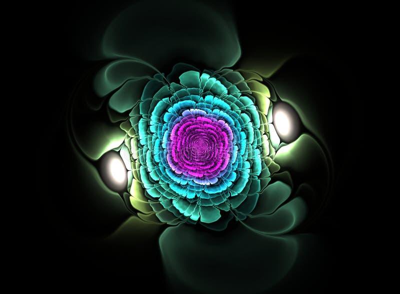 Όμορφο αφηρημένο fractal λουλούδι ελεύθερη απεικόνιση δικαιώματος