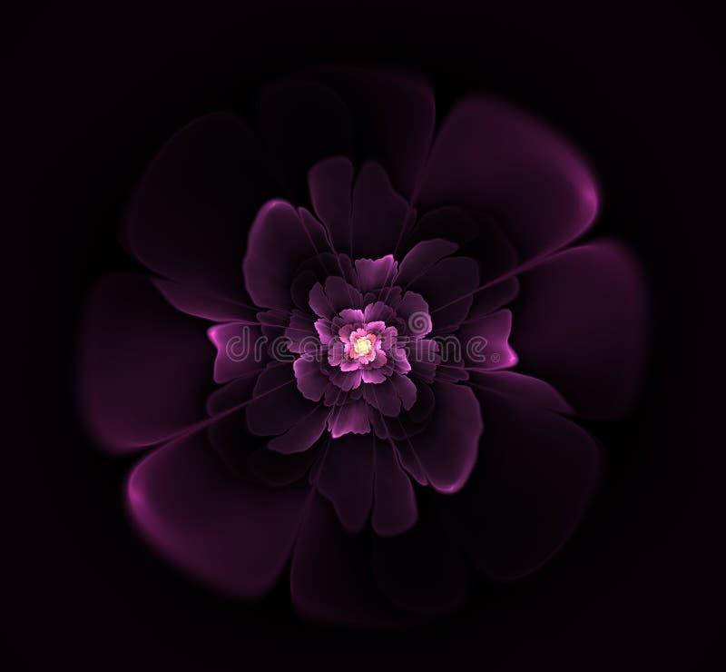 Όμορφο αφηρημένο fractal λουλούδι διανυσματική απεικόνιση