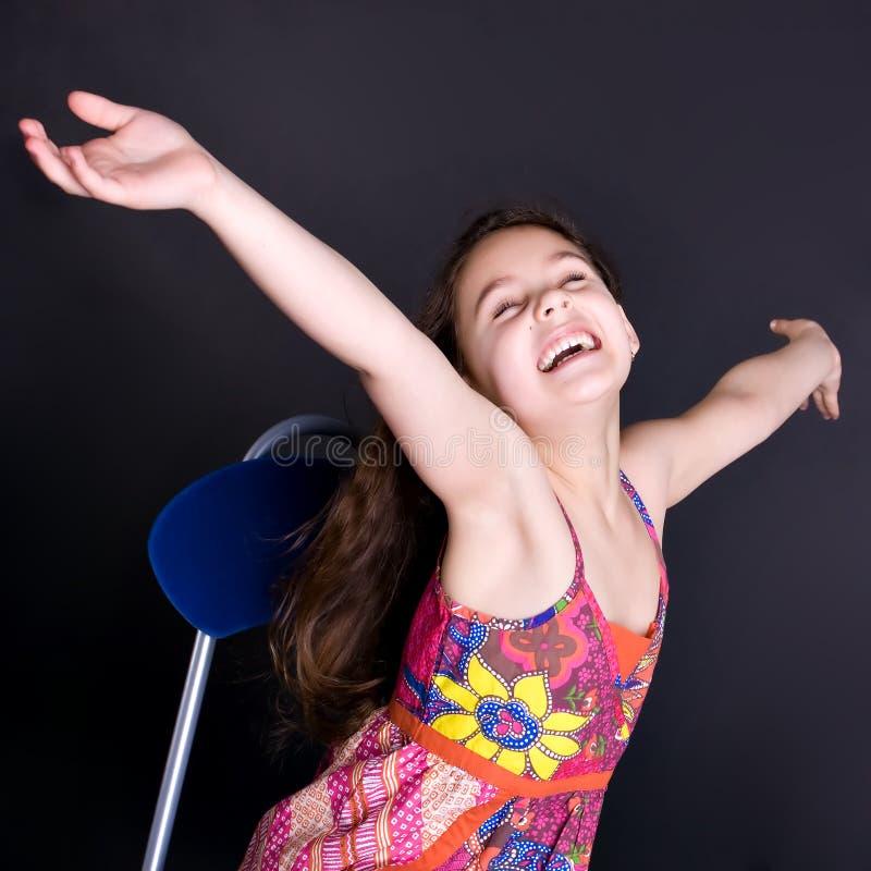 όμορφο γέλιο κοριτσιών στοκ εικόνα με δικαίωμα ελεύθερης χρήσης