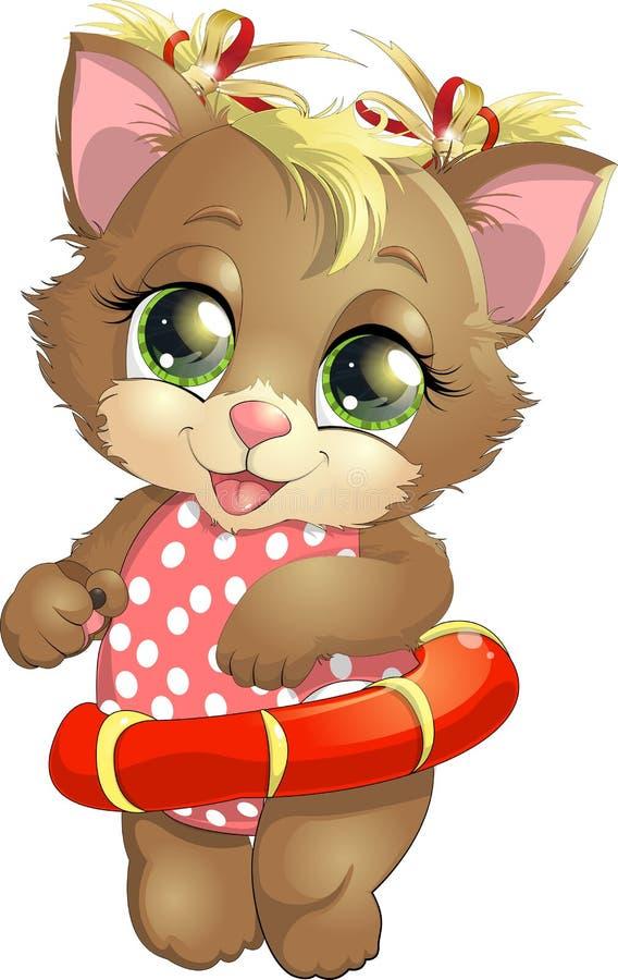 όμορφο γατάκι ελεύθερη απεικόνιση δικαιώματος