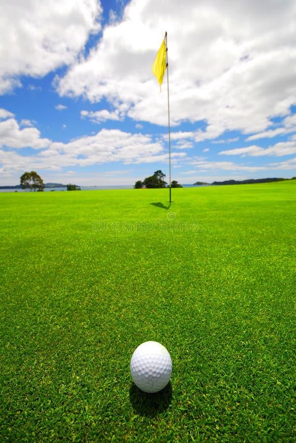 όμορφο γκολφ πράσινο στοκ εικόνα
