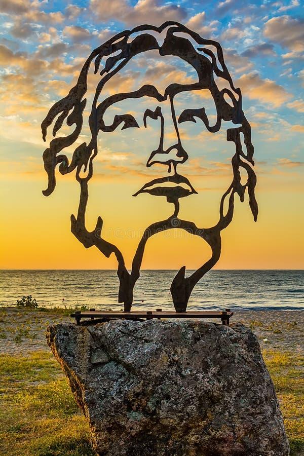 Όμορφο γλυπτό του Μεγαλέξανδρου σε Asprovalta, Ελλάδα στοκ φωτογραφία με δικαίωμα ελεύθερης χρήσης