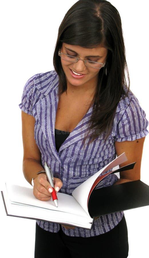 όμορφο γράψιμο γυναικών π&omicron στοκ φωτογραφίες με δικαίωμα ελεύθερης χρήσης