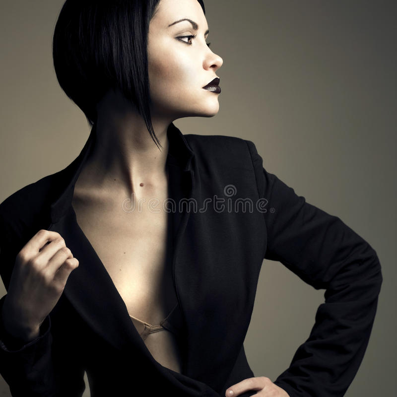 όμορφο γυναικείο πορτρέτ&o στοκ εικόνες