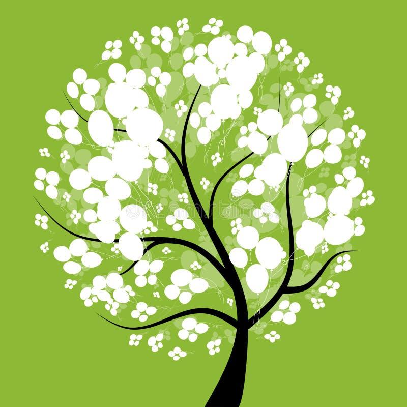 όμορφο δέντρο σχεδίου τέχν& διανυσματική απεικόνιση