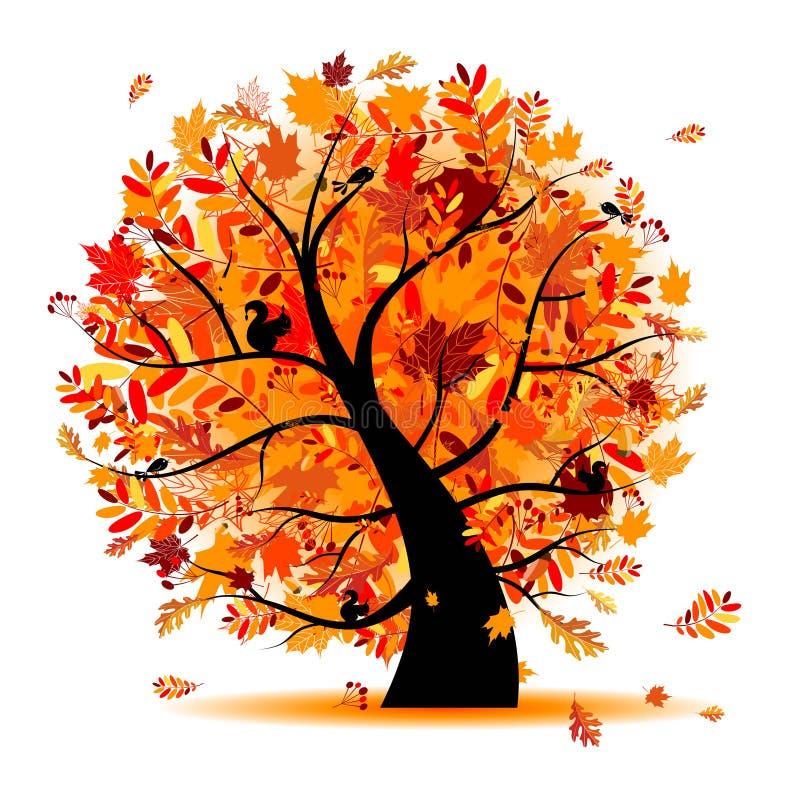 όμορφο δέντρο σχεδίου φθ&iot ελεύθερη απεικόνιση δικαιώματος