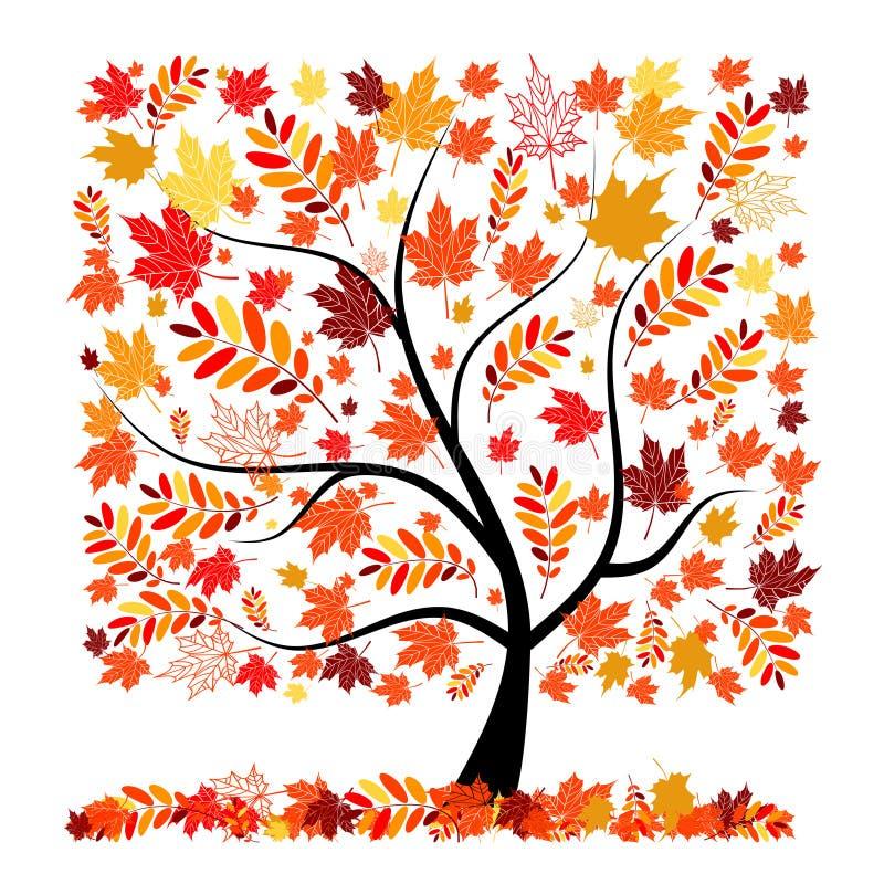 όμορφο δέντρο σχεδίου φθ&iot διανυσματική απεικόνιση