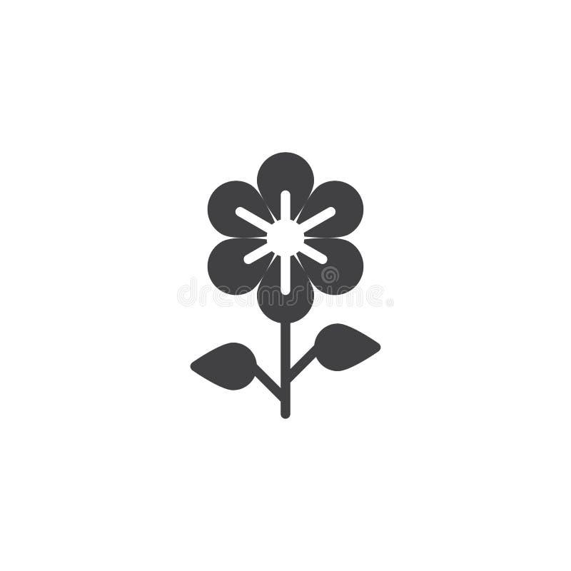 Όμορφο διανυσματικό εικονίδιο λουλουδιών απεικόνιση αποθεμάτων