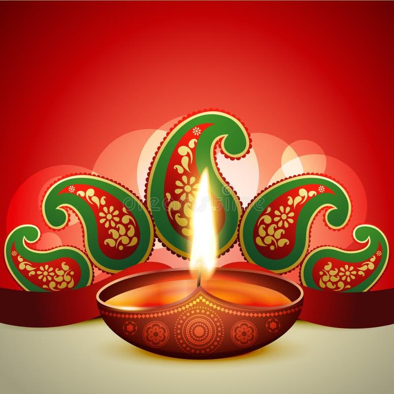 Όμορφο διανυσματικό diya diwali ελεύθερη απεικόνιση δικαιώματος