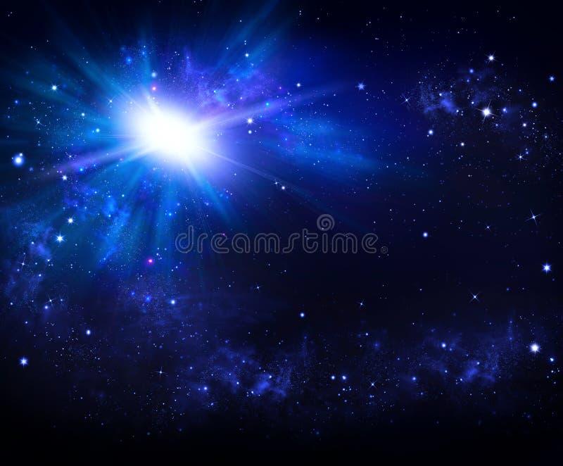 Όμορφο διαστημικό υπόβαθρο, νυχτερινός ουρανός με τα αστέρια ελεύθερη απεικόνιση δικαιώματος