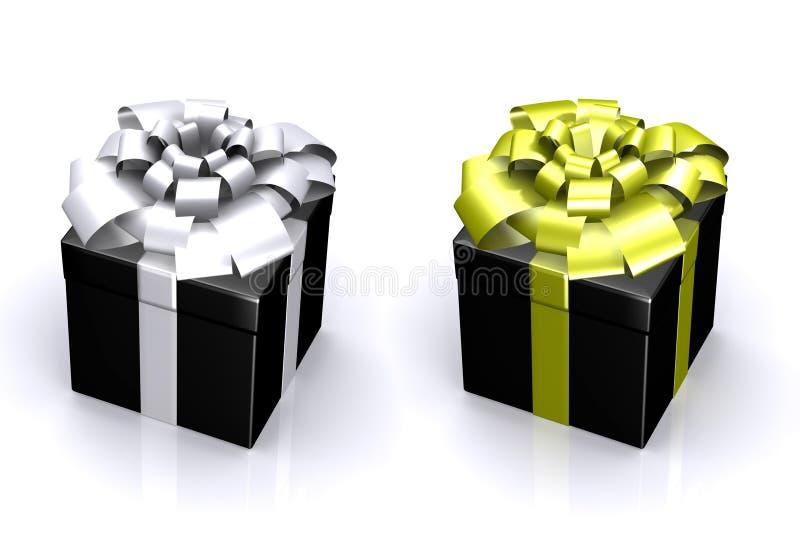 όμορφο δώρο κιβωτίων τόξων διανυσματική απεικόνιση