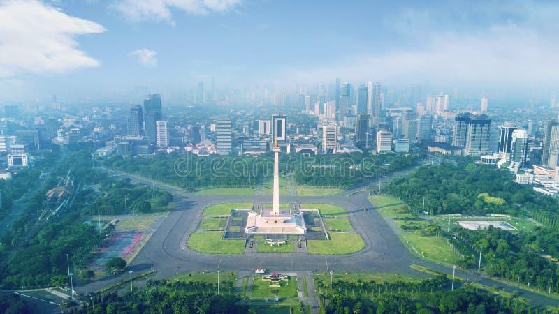 Όμορφο εθνικό μνημείο στο χρόνο πρωινού στοκ εικόνες με δικαίωμα ελεύθερης χρήσης