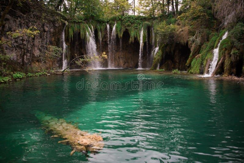 Όμορφο εθνικό πάρκο στην Κροατία, λίμνες Plitvice στοκ φωτογραφίες με δικαίωμα ελεύθερης χρήσης