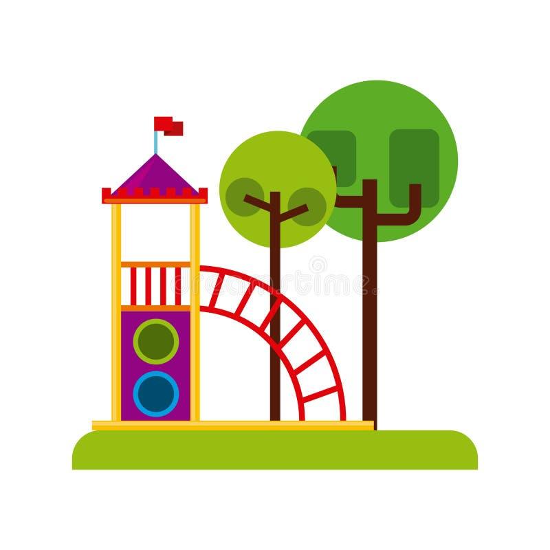 Όμορφο εικονίδιο παιδικών χαρών παιδιών διανυσματική απεικόνιση