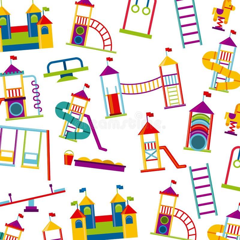 Όμορφο εικονίδιο παιδικών χαρών παιδιών απεικόνιση αποθεμάτων