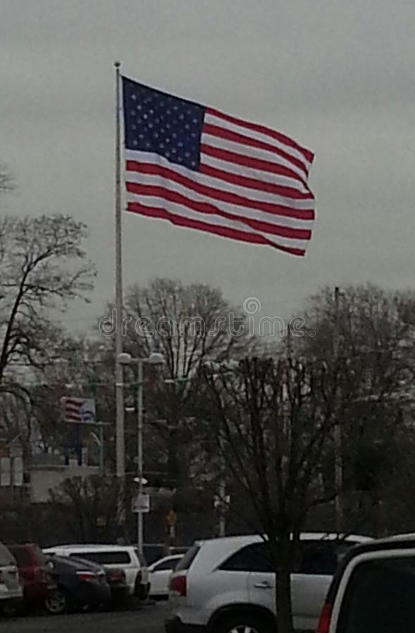 όμορφο εορταστικό κείμενο σημαιών πυροτεχνημάτων ημέρας ανασκόπησης στοκ εικόνες
