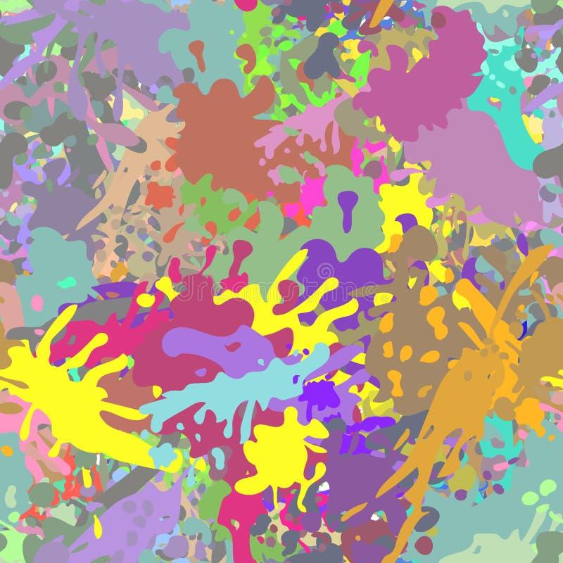 Όμορφο ζωηρόχρωμο άνευ ραφής σχέδιο Watercolor λ διανυσματική απεικόνιση