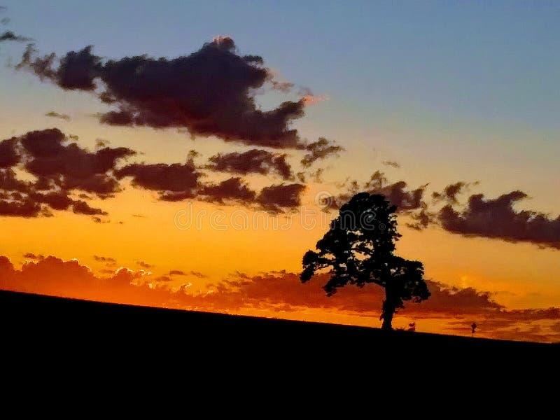 Όμορφο ηλιοβασίλεμα Λυών Όρεγκον στοκ εικόνες
