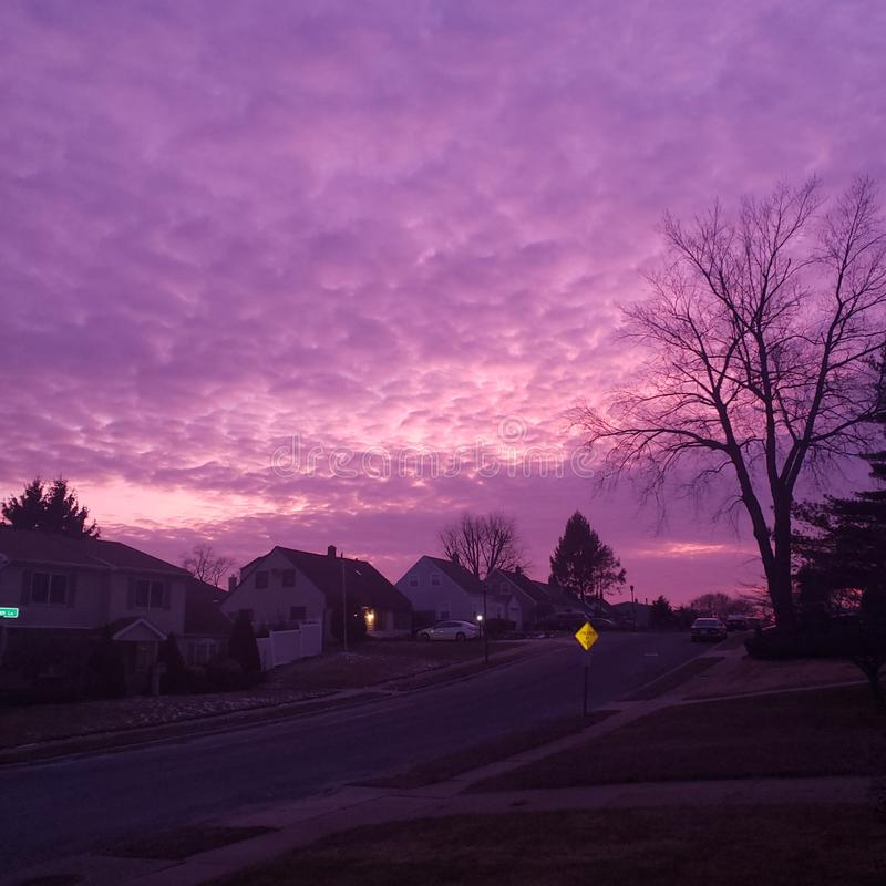Πορφύρα ουρανού στοκ φωτογραφία με δικαίωμα ελεύθερης χρήσης