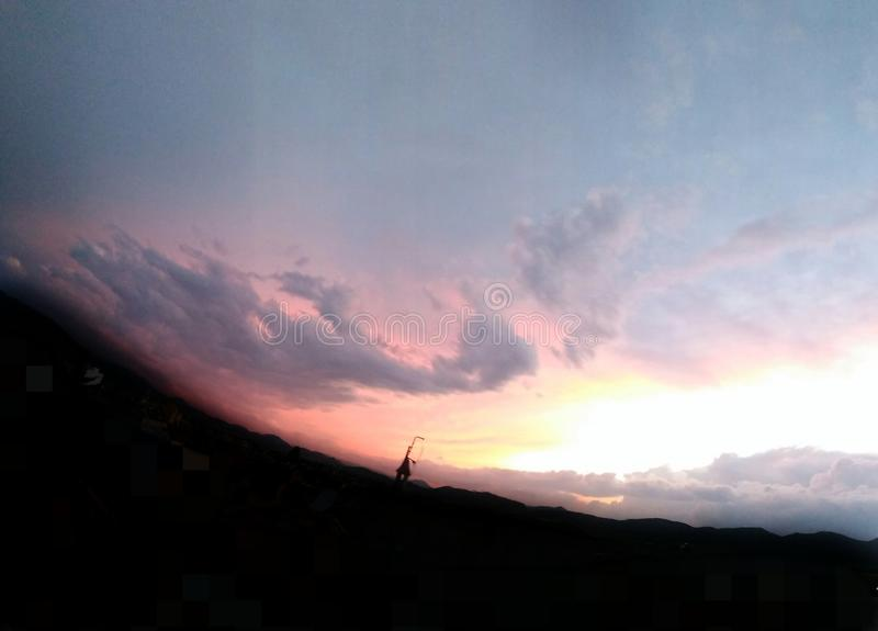 όμορφο ηλιοβασίλεμα στοκ φωτογραφία με δικαίωμα ελεύθερης χρήσης