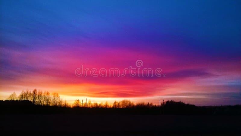 Όμορφο ηλιοβασίλεμα 2014 στοκ εικόνες με δικαίωμα ελεύθερης χρήσης