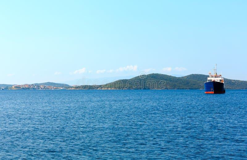 Όμορφο θερινό seascape Halkidiki, Ελλάδα στοκ φωτογραφίες με δικαίωμα ελεύθερης χρήσης